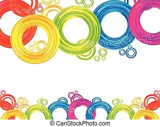 cerchio, arcobaleno, astratto, colorito