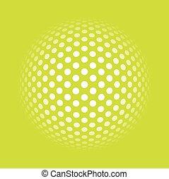 cerchio, arte, fondo, op