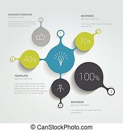 cerchio, chart., infographic