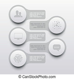 cerchio, elementi, pulito, etichetta