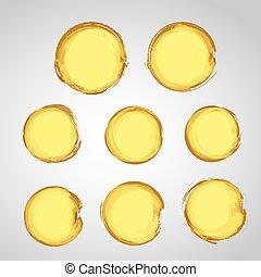 cerchio, grunge, collezione