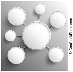 cerchio, gruppo, moderno, relationship.