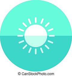 cerchio, icona, -, previsione, parzialmente, soleggiato
