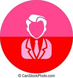 cerchio, icona, -, uomo affari