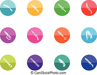 cerchio, icone, -, coltelli