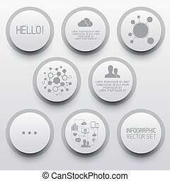 cerchio, infographic, pulito, elementi