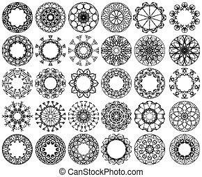 cerchio nero, ornamento, disegno