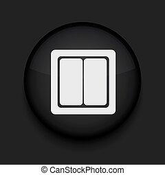 cerchio nero, vettore, eps10, icon.