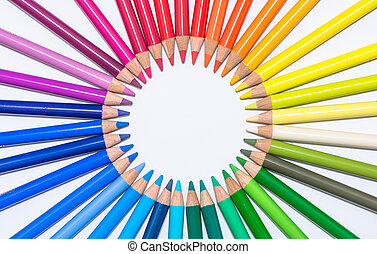 cerchio, pastelli, colorito