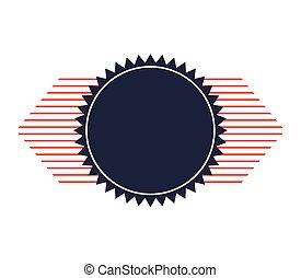 cerchio, sigillo, incorniciare icona