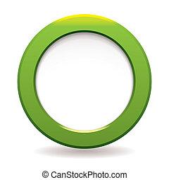 cerchio, verde, icona