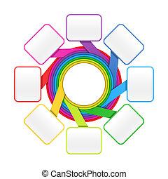 cercle, éléments, huit