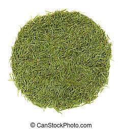 cercle, aiguilles, vert, pile