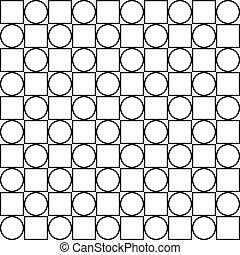 cercle, carrée, seamless, barrière