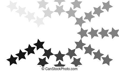 cercle, chargement, étoile, animation