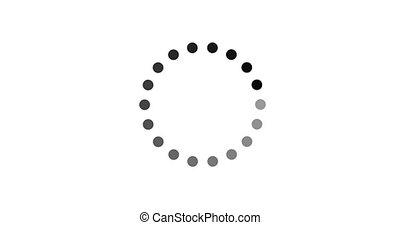 cercle, chargement, arrière-plan noir, icône