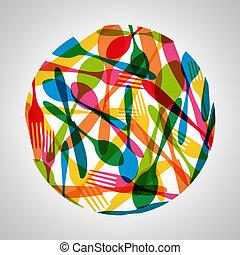 cercle, coutellerie, illustration