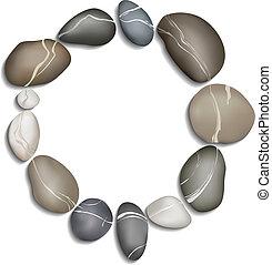 cercle, de, 12, cailloux