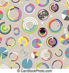 cercle, diagramme, seamless, modèle