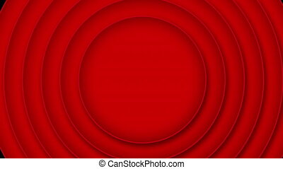 cercle, disparaître, arrière-plan rouge, noir