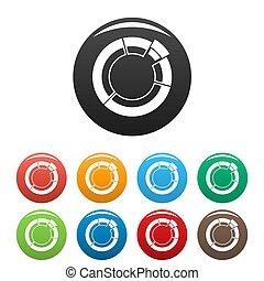 cercle, ensemble, diagramme, collection, icônes