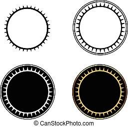 cercle, ensemble, frames-vector, illustration