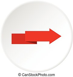 cercle, flèche droite, icône