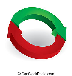 cercle, flèches