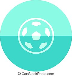 cercle, football, -, icône