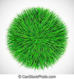cercle, herbe, fond