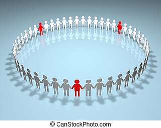cercle, humain