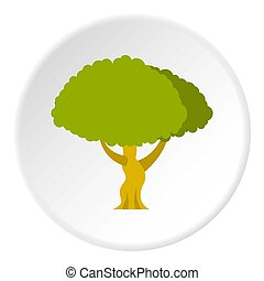 cercle, icône, arbre