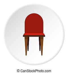 cercle, icône, chaise
