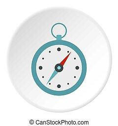 cercle, icône, compas