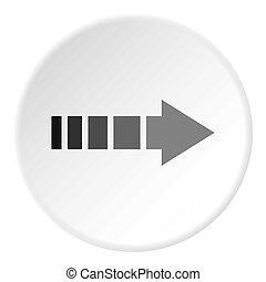 cercle, icône, curseur