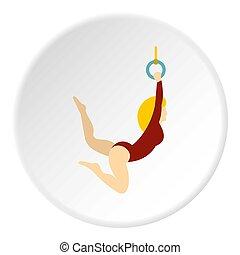 cercle, icône, gymnaste