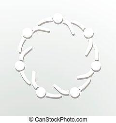 cercle, logo., communauté, gens