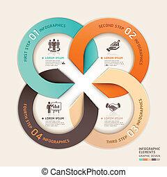 cercle, moderne, business., flèche