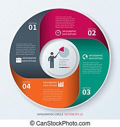 cercle, moderne, infographics