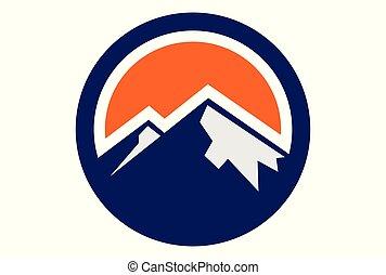 cercle, montagne, logo, dsign