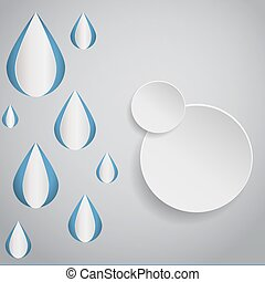 cercle, résumé, goutte, conception, eps