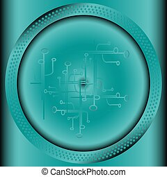 cercle, technologie, fond