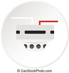 cercle, thermomètre, icône