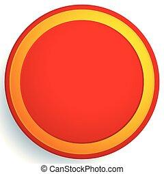 cercle, vide, vide, arrière-plan rouge