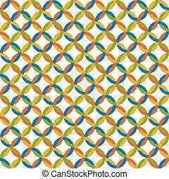 cercles, -, arrière-plan coloré, interminable