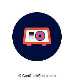 cercles, arrière-plans, vecteur, radio, blanc, icône