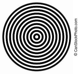 cercles, blanc, noir