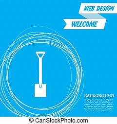 cercles, bleu, pelle, autour de, résumé, text., vecteur, endroit, fond, ton, icône