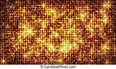 cercles, brillant, étoiles, or, boucle