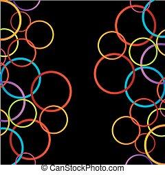 cercles, coloré, fond